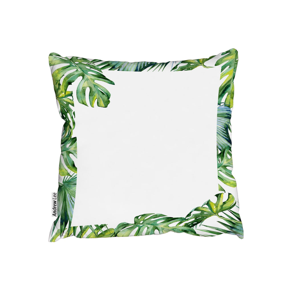 New Product Botanical Leaves Border (Cushion)  - Andrew Lee Home and Living