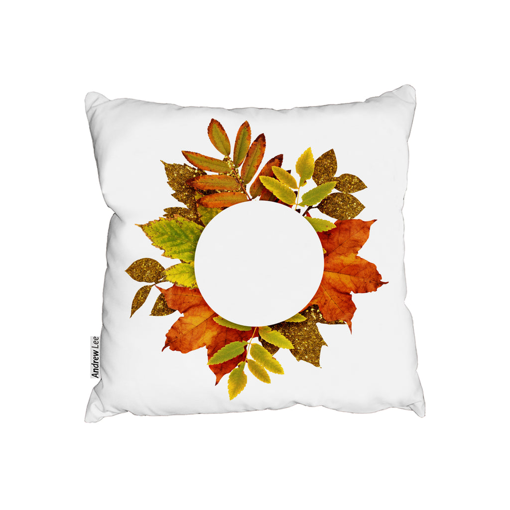 New Product Circled Autumn Leaves (Cushion)  - Andrew Lee Home and Living