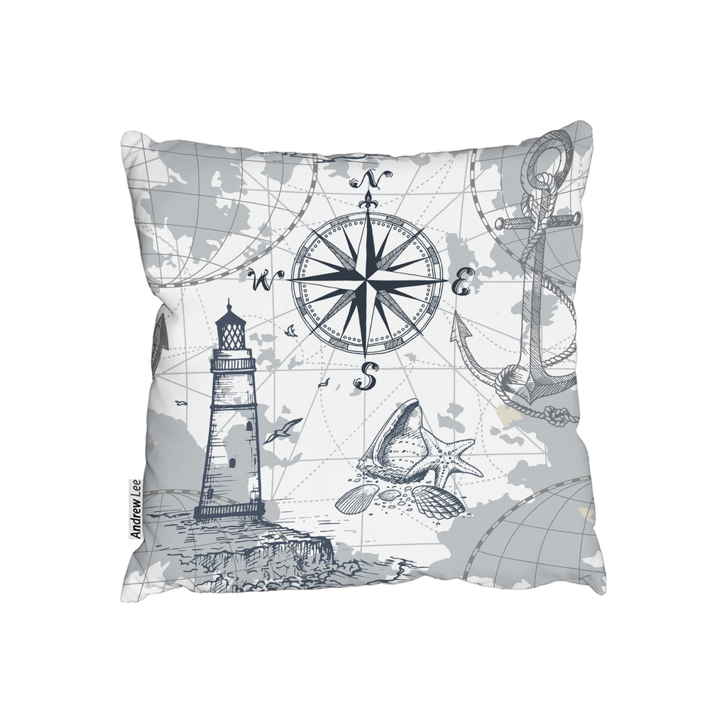 New Product Compass & Map (Cushion)  - Andrew Lee Home and Living