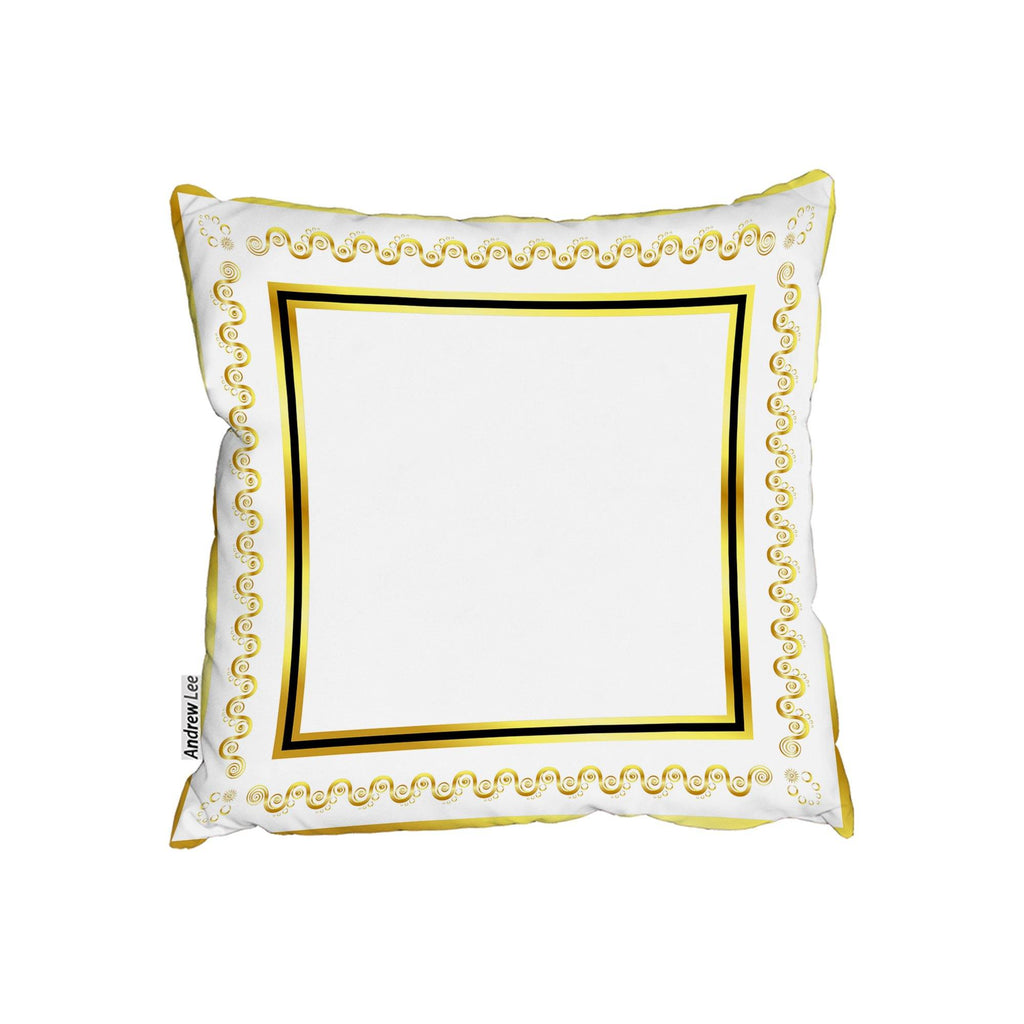 New Product Ancient Egyptian Gold Border (Cushion)  - Andrew Lee Home and Living