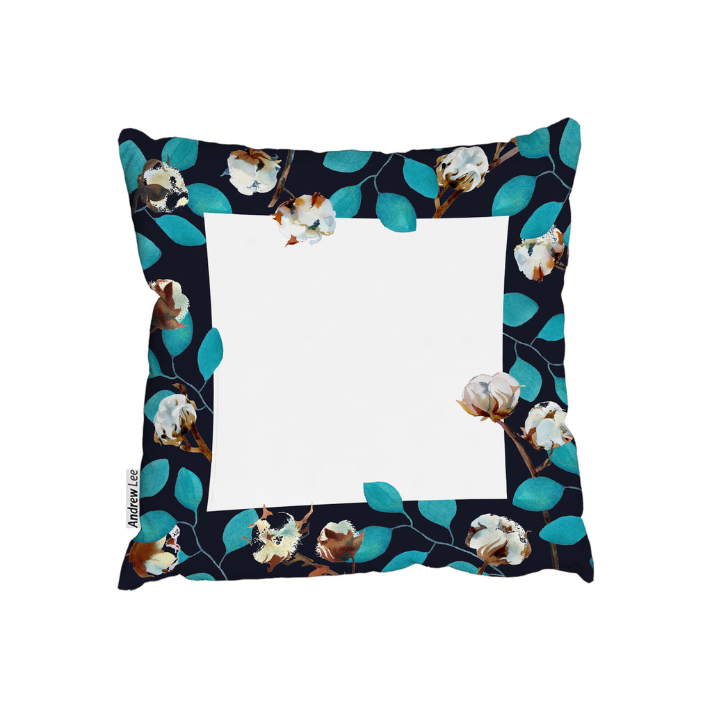 New Product Watercolour Blue Leaf Frame (Cushion)  - Andrew Lee Home and Living