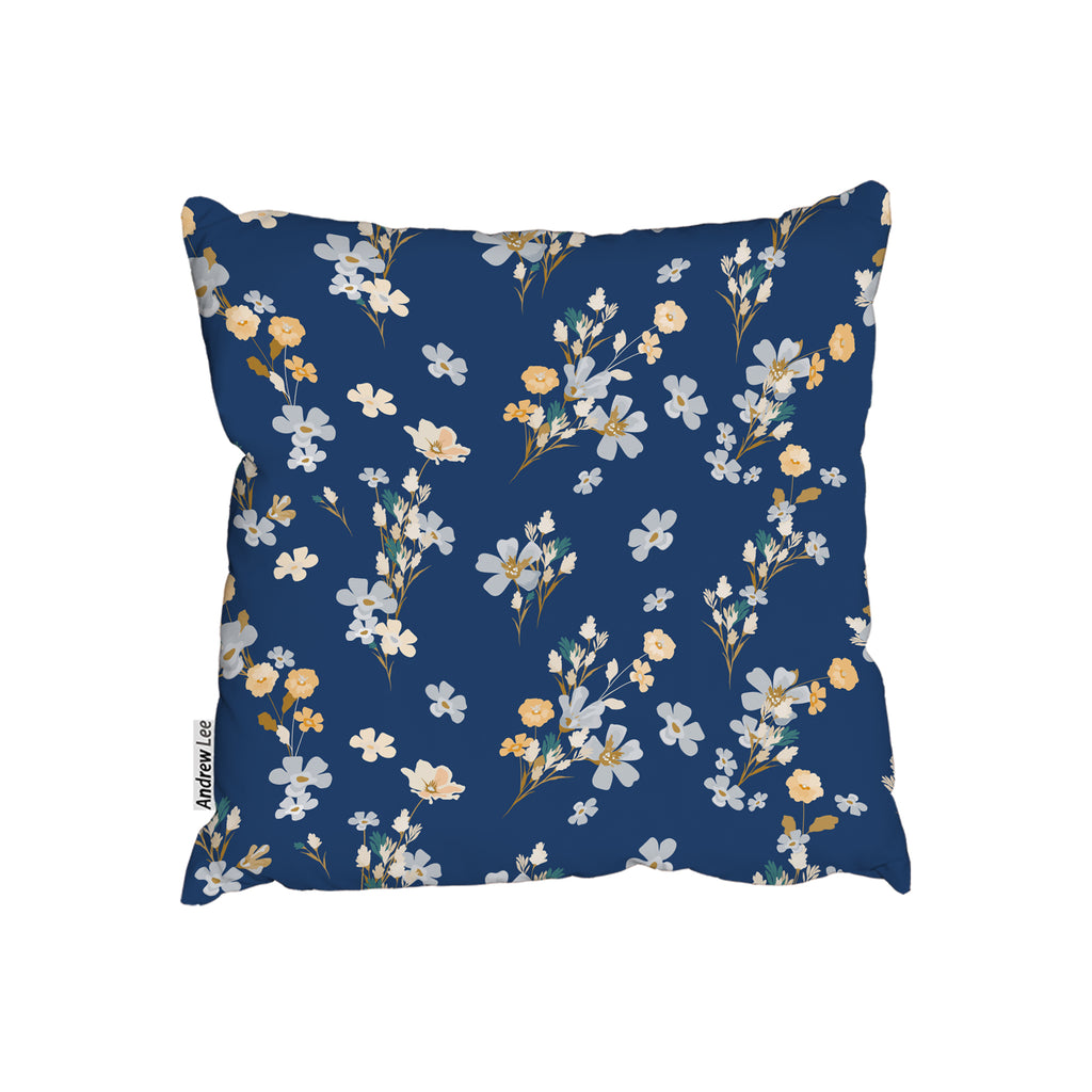 New Product Blue & Yellow Bunches (Cushion)  - Andrew Lee Home and Living
