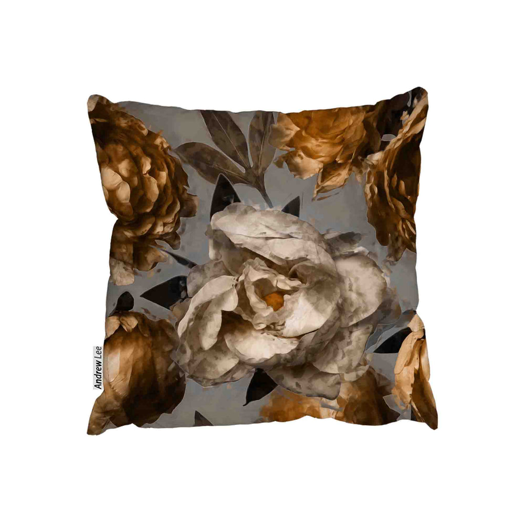 New Product Golden White Flower (Cushion)  - Andrew Lee Home and Living