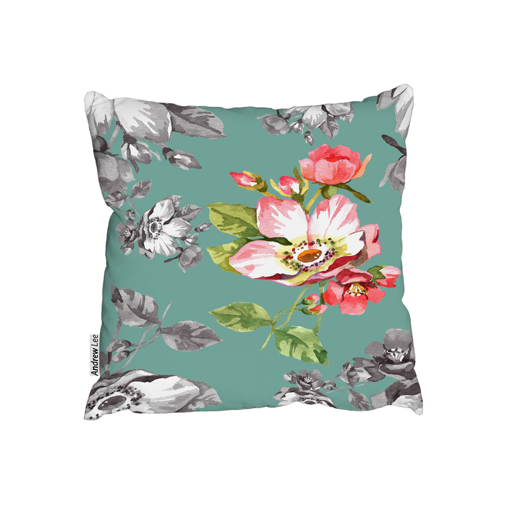 New Product Bright Flower on Green (Cushion)  - Andrew Lee Home and Living