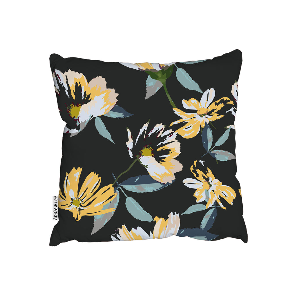 New Product Yellow Flowers on Green (Cushion)  - Andrew Lee Home and Living