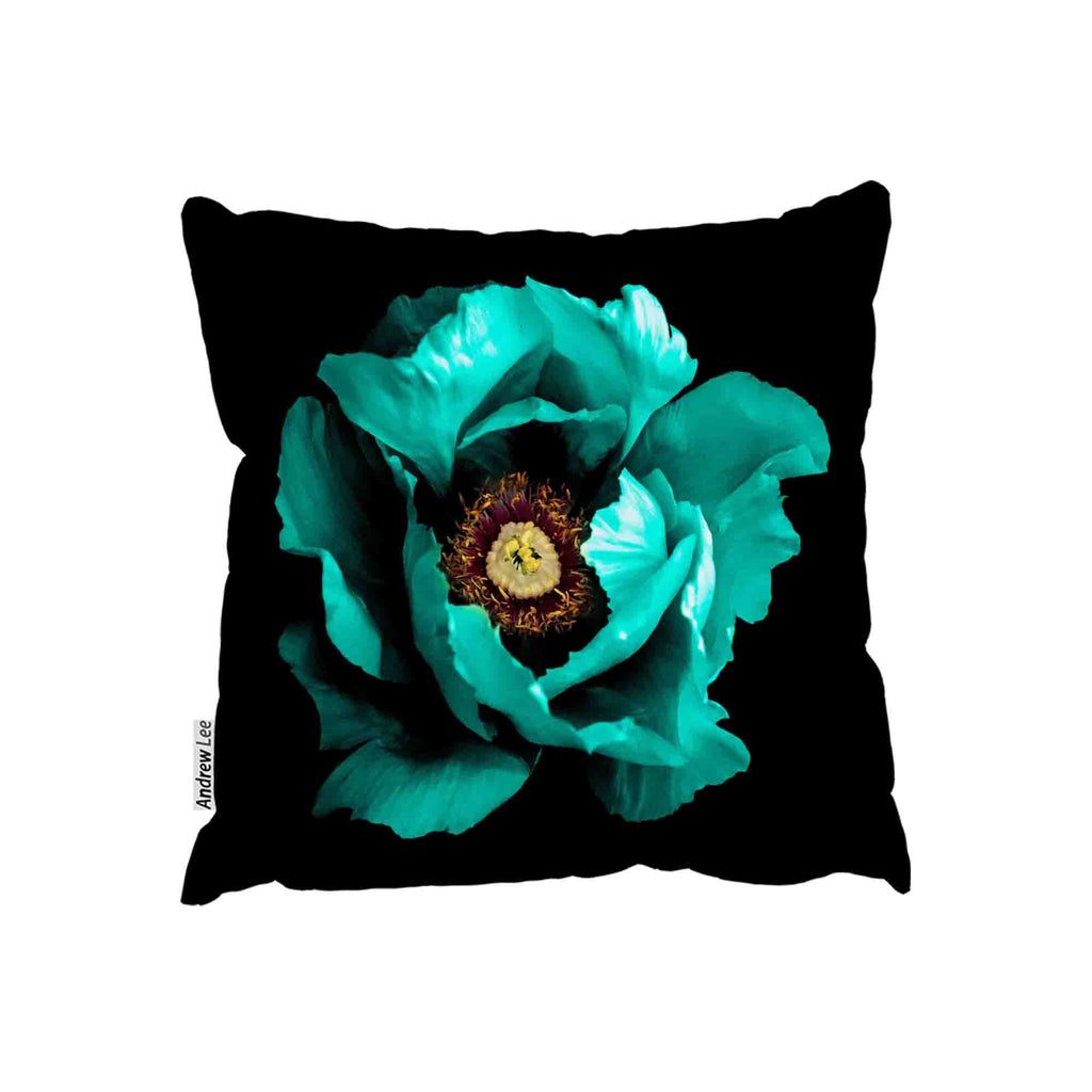 New Product Cyan Peony Flower (Cushion)  - Andrew Lee Home and Living