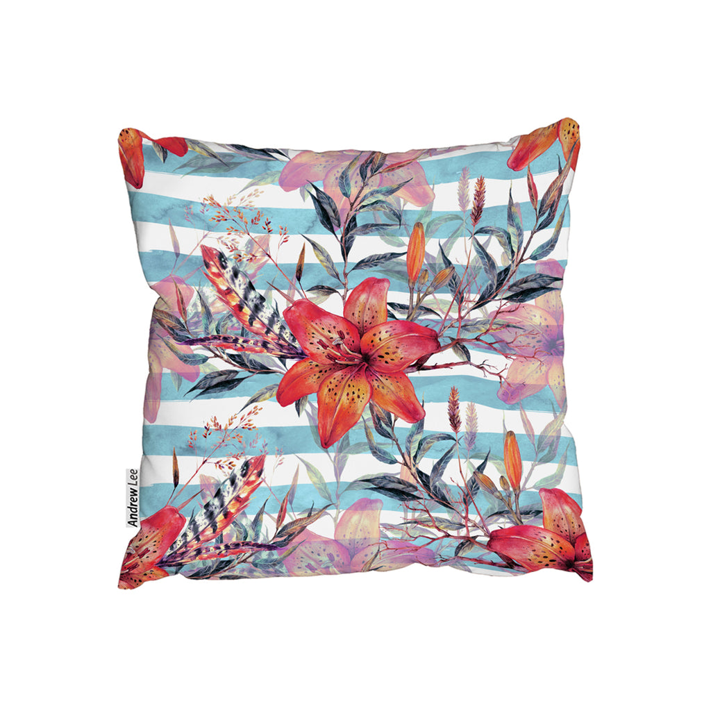 New Product Bouquet of watercolor tiger lilies (Cushion)  - Andrew Lee Home and Living