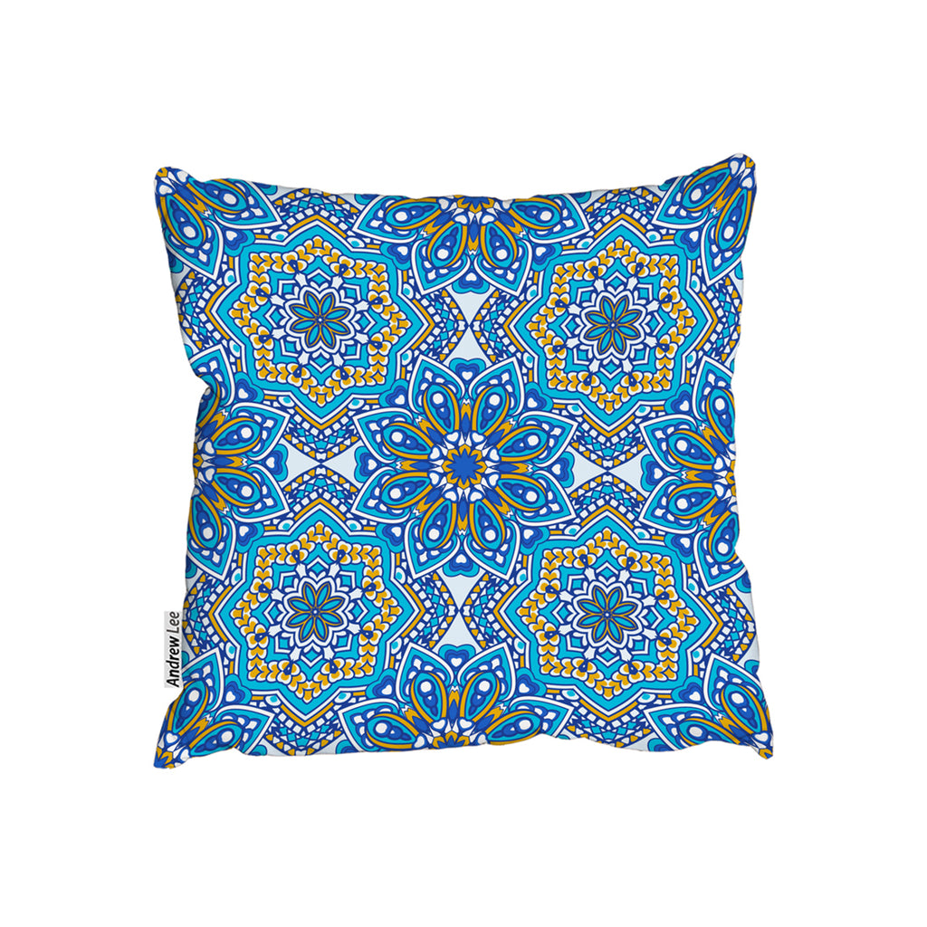 New Product Floral and geometric embellished tiles (Cushion)  - Andrew Lee Home and Living