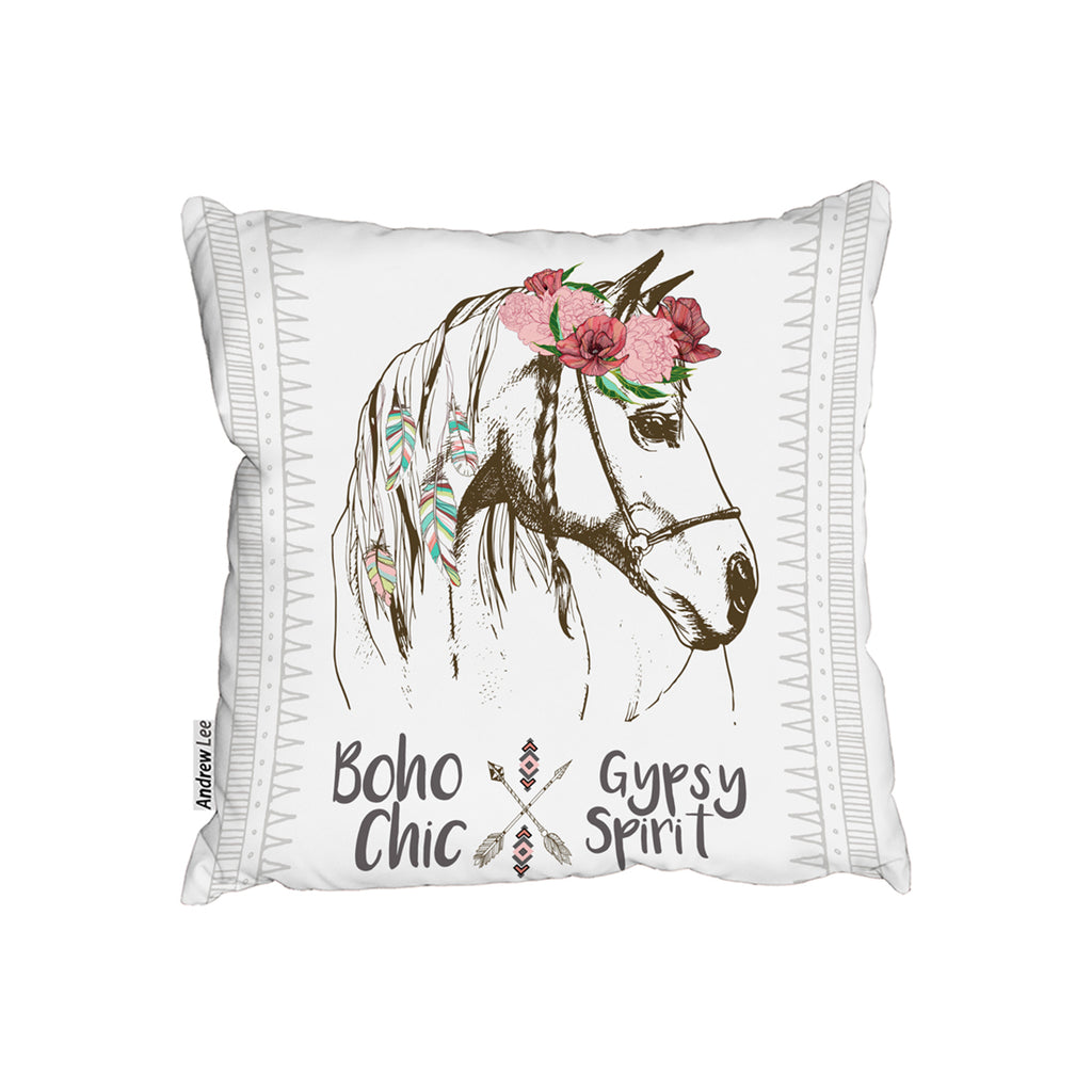 New Product horse with flower Chic (Cushion)  - Andrew Lee Home and Living