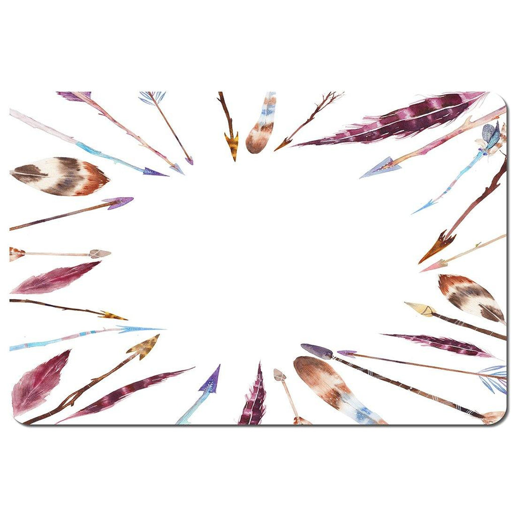 New Product Watercolor boho chic with feathers and arrows (Placemat)  - Andrew Lee Home and Living