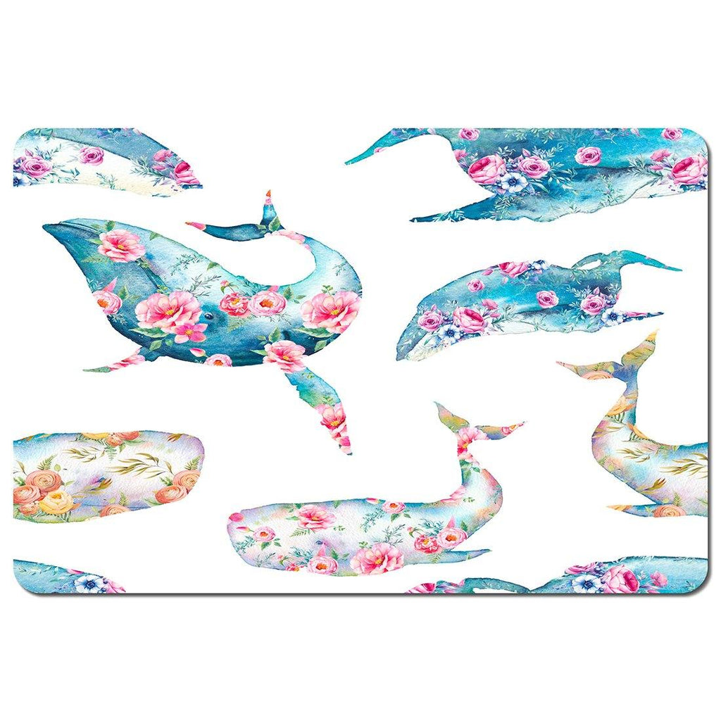 New Product Whale with flowers (Placemat)  - Andrew Lee Home and Living