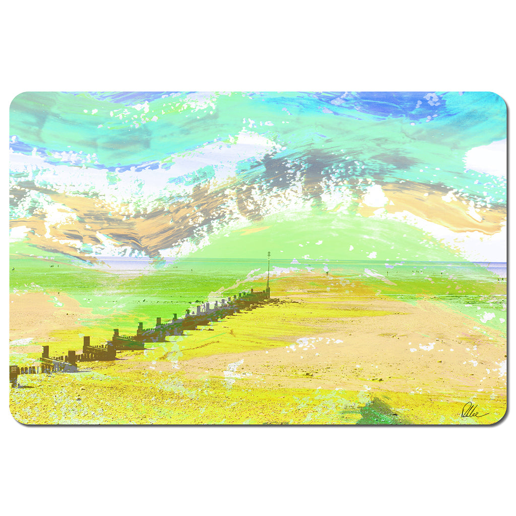 New Product Yellow beach (Placemat)  - Andrew Lee Home and Living