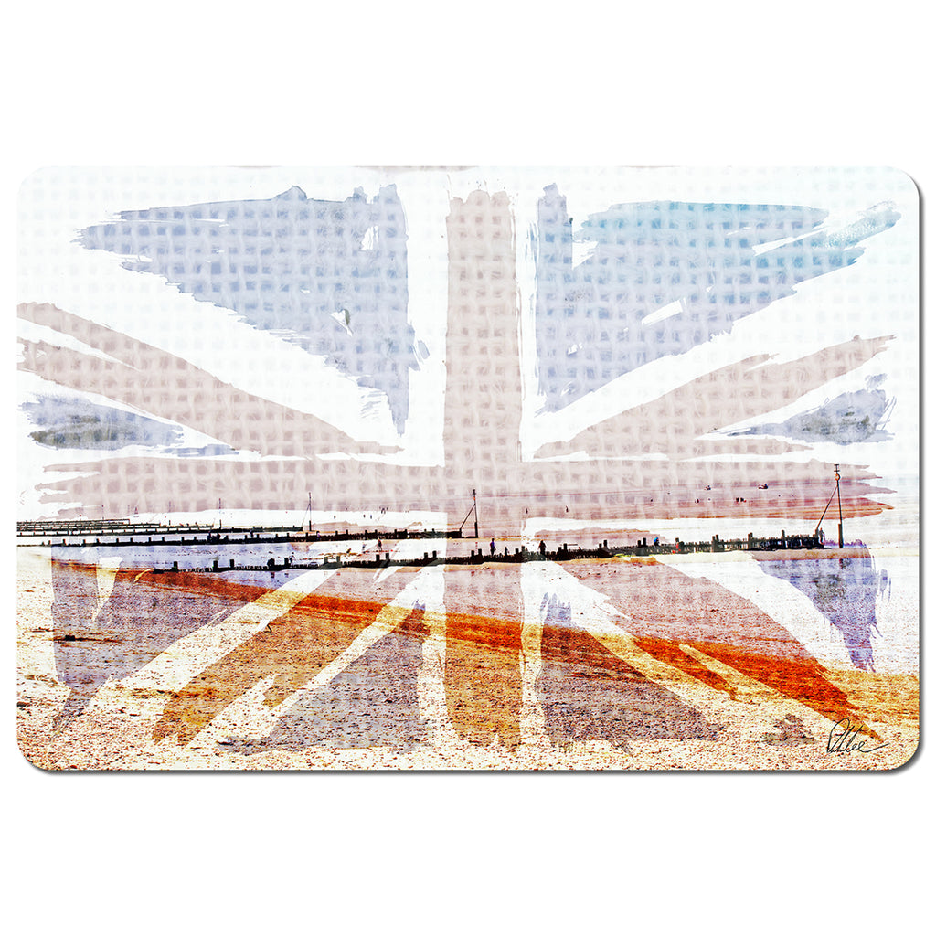 New Product Union jack beach (Placemat)  - Andrew Lee Home and Living