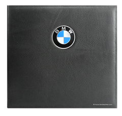 Genuine leather binder cover with BMW medallion in front cover