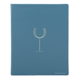 genuine leather menu cover with silver foil stamped logo for The Pool