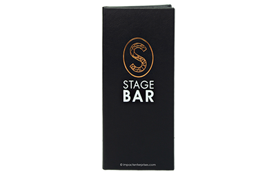Thin black leather menu with 2 colored debossed logo of a S