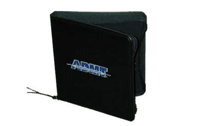 Premium Coach fauax leather zippered binder with three color foil debossed logo.