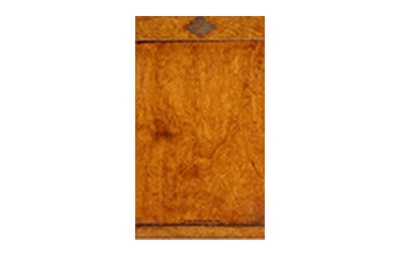 Walnut veneer menu cover with horizontal bar pockets.