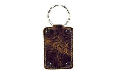 Genuine leather custom key fob.