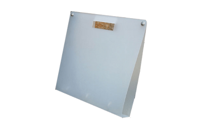 Frosted binder with hole as handle
