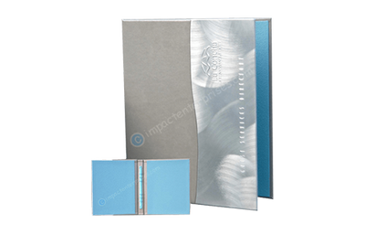 Silver and Aluminum 'S' curve with Impact Sand Fabric binder.