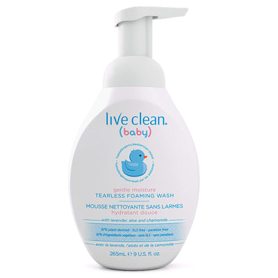 Live Clean Baby Gentle Moisture Tearless Foaming Baby Wash