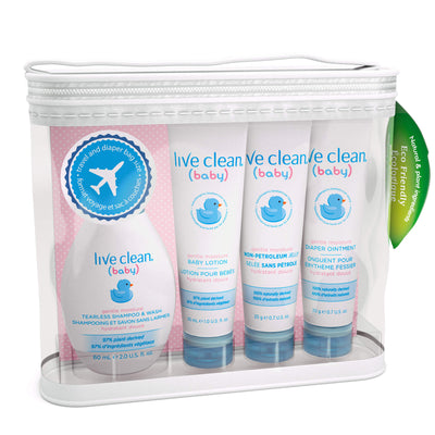 Live Clean Baby Gentle Moisture Diaper Bag Essentials Gift Set