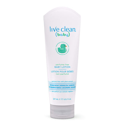 Live Clean Baby Perfume Free Baby Lotion