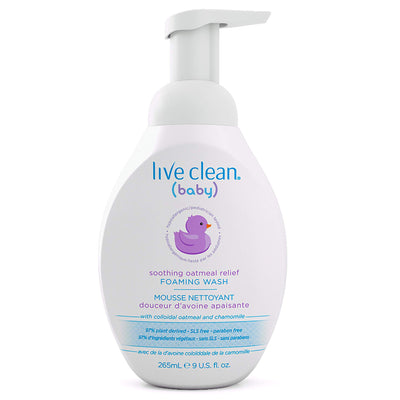 Live Clean Baby Soothing Oatmeal Relief Tearless Foaming Baby Wash