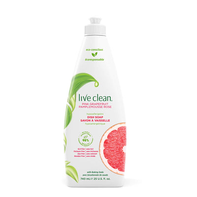 Live Clean Pink Grapefruit Dish Soap