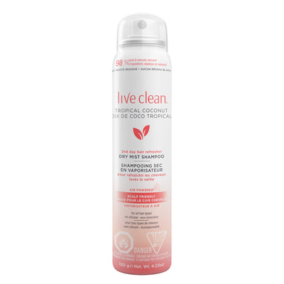 Live Clean Tropical Coconut Dry Mist Shampoo