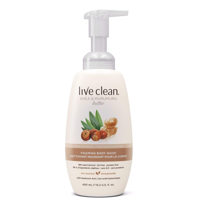 Live Clean Shea and Murumuru Butter Foaming Body Wash