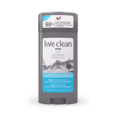 Live Clean Men's Aluminum Free Deodorant, Cool