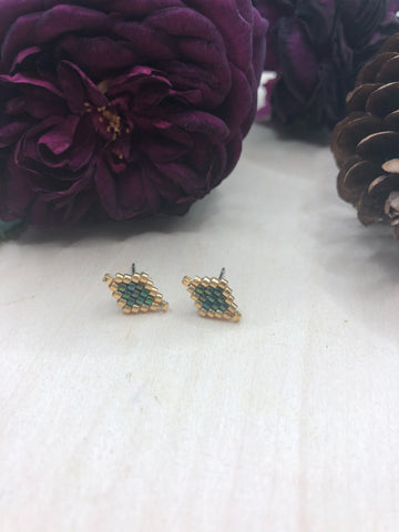 Peacock Diamond Studs