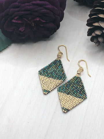Peacock Split Diamonds
