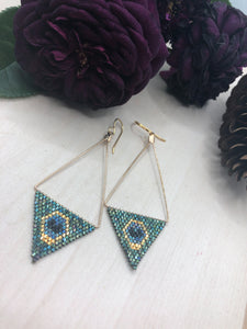 Triangle Frame Peacock Diamonds