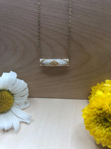 White Tube Necklace