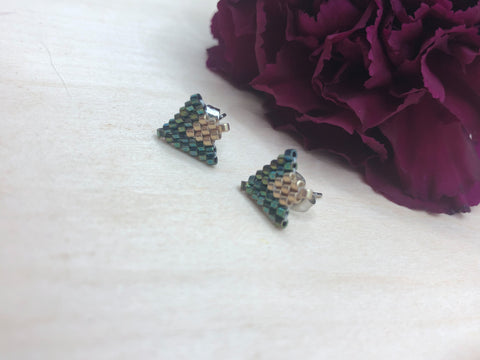 Peacock Arrow Studs
