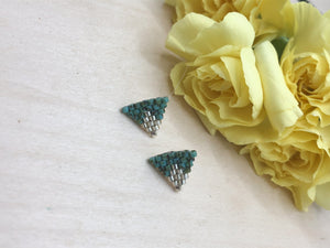 Turquoise Picasso Triangle Studs