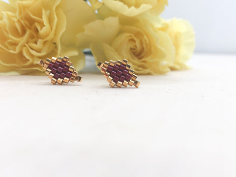 Red Diamond Studs