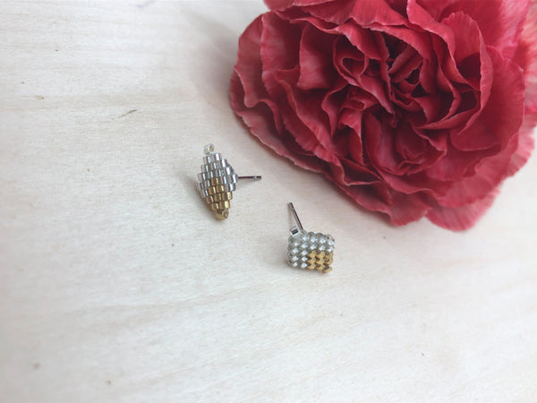 White Crystal Diamond Studs