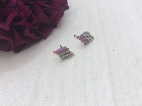 Split Rose Diamond Studs