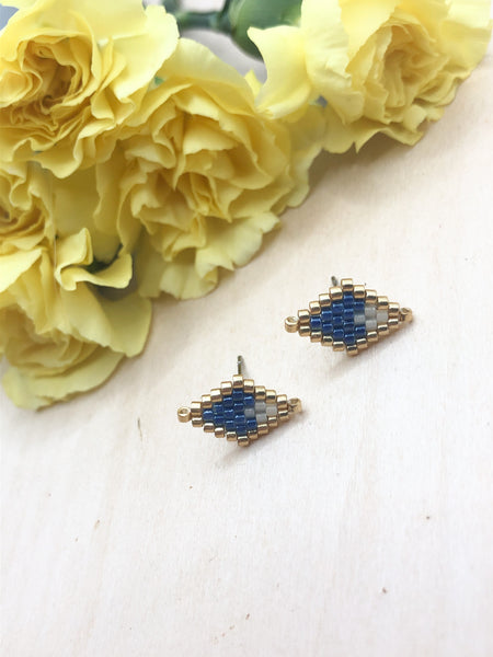 KC Royals Blue Diamond Studs