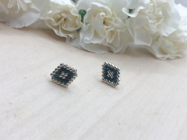 Midnight Blue Diamond Studs