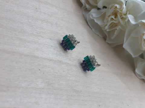 Bright and Bold Honeycomb Studs