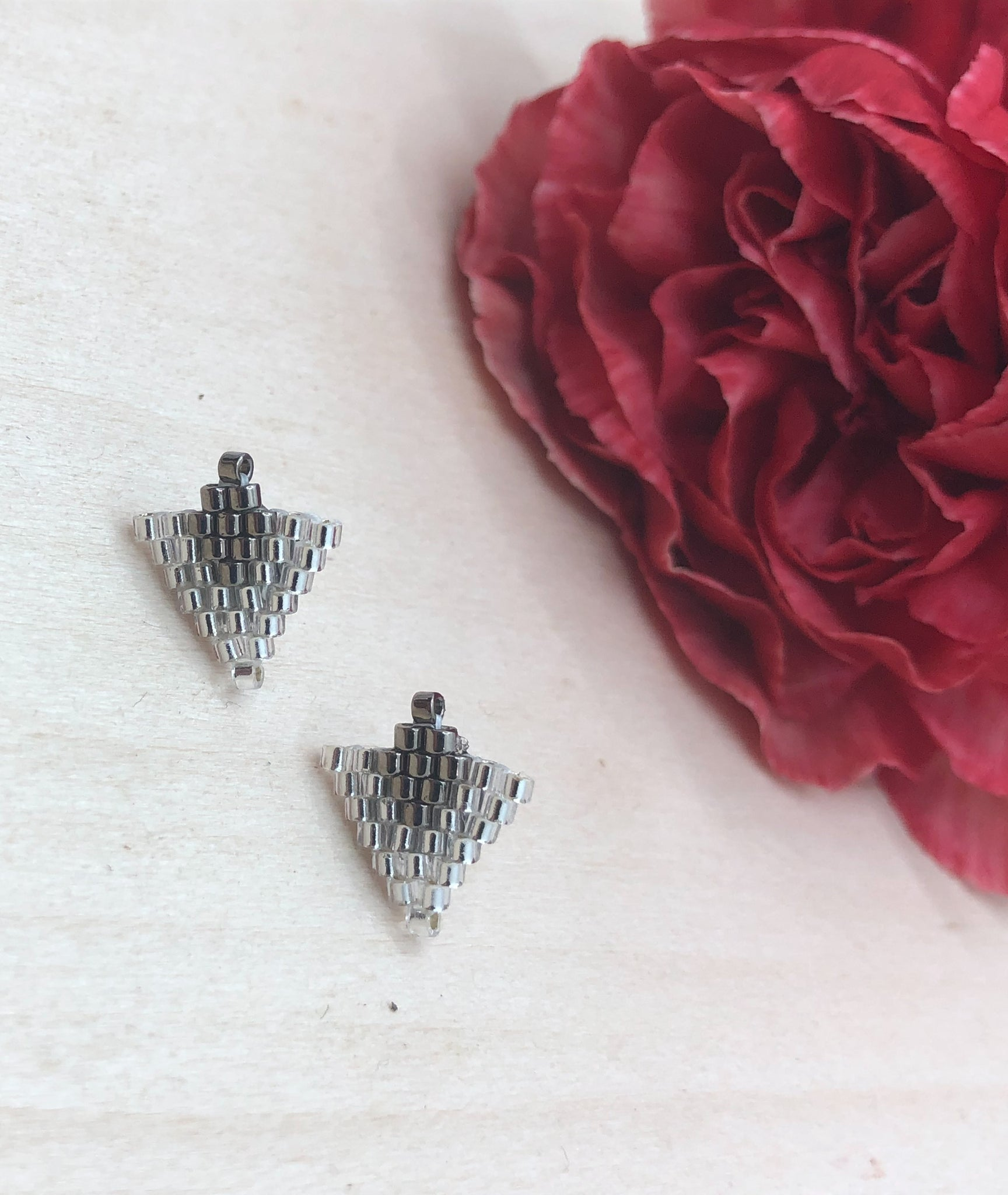 Crystal and Nickle Arrow Studs