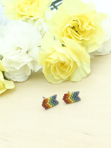 Rainbow Chevron Studs