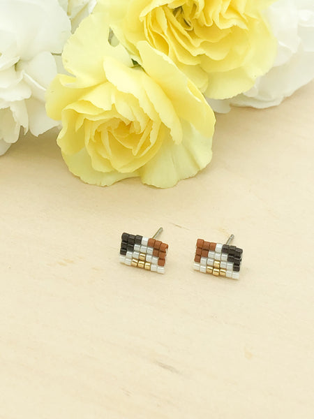 70s Rectangle Studs