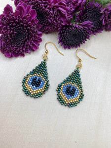 Peacock Mini Teardrops