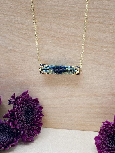 Peacock Tube Necklace